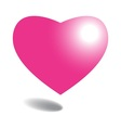 pink heart on background vector image