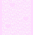 pink seamless pattern with hearts and white floral vector image
