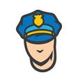 policeman head sign vector image vector image