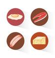 protein diet healthy food vector image vector image