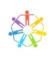 rainbow gay logo vector image vector image