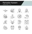 ramadan kareem icons modern line design vector image