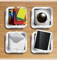 realistic app icon vector image vector image