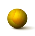 Realistic volleyball ball icon vector image