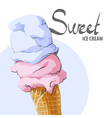 Refreshing ice cream vector image vector image