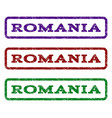 romania watermark stamp vector image