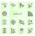 satellite icons vector image vector image