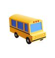 school bus toy style vector image vector image