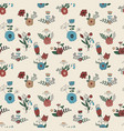 seamless pattern with spring bouquets vector image vector image
