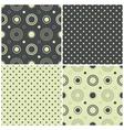 seamless patterns with polka dots and circles vector image