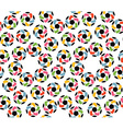 Seamless texture of soccer balls and united hands vector image vector image