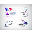 set of arrow logos pointer icons abstract vector image vector image