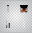 set of greasepaint realistic symbols with vector image