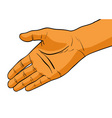 simple hand vector image