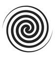 spiral black icon geometric twirl and rotation vector image vector image