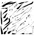 Splatter brushes and Brush Strokes vector image vector image