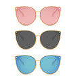 sun glasses isolated summer vector image vector image