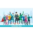 Super Hero Composition vector image vector image