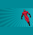 superhero flying ray light background vector image vector image