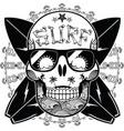 surf skull vector image
