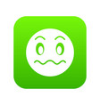 suspicious emoticon digital green vector image