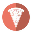tasty pizza slice shadow vector image