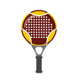 tennis squash racquet icon flat isolated vector image vector image