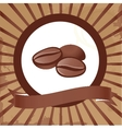 Three isolated coffee beans on background vector image