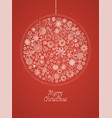 vintage christmas greeting card design vector image