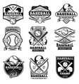 vintage sports logo design retro baseball vector image