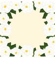 white camellia flower frame border vector image vector image
