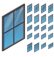 windows in isometric view vector image vector image