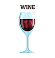wine glass icon modern minimal flat design vector image vector image