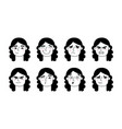 woman face expression girl face facial expressions vector image