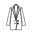 woman overcoat it is black icon vector image vector image