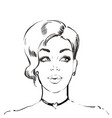 woman with short hairstyle young beautiful vector image vector image