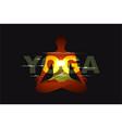 yoga sign poster or billboard lettering design vector image
