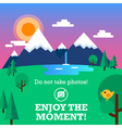 Enjoy the moment vector image