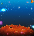 Space scene with many planets vector image