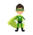 super hero boy cartoon character vector image