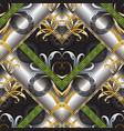 3d modern greek key seamless pattern geometric vector image vector image