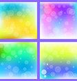 abstract colorful blur background set vector image vector image