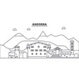 andorra architecture line skyline vector image vector image