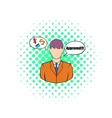 Approval for a loan icon comics style vector image vector image