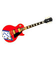 arkansas state flag guitar vector image vector image
