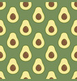 avocado bright green background lovely avocado vector image vector image