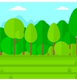 Background of green lawn with trees vector image