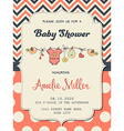 Beautiful baby girl shower card vector image vector image