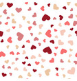 beautiful confetti hearts falling greeting card vector image vector image
