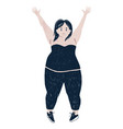 beautiful plus size woman vector image vector image
